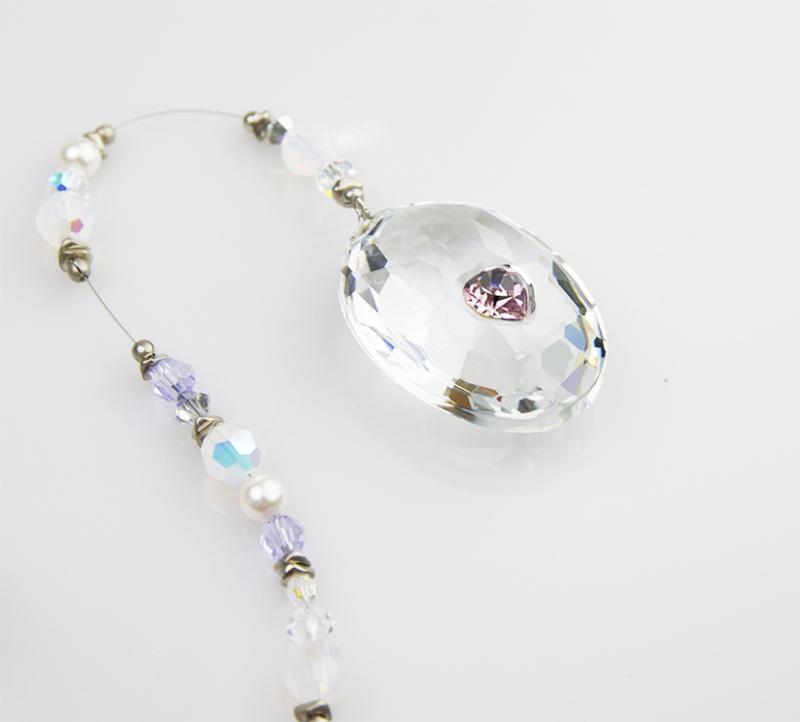 Ornamento-Swarovski-crystal-Jewel-disco-sfaccettato-in-cristallo-918443-
