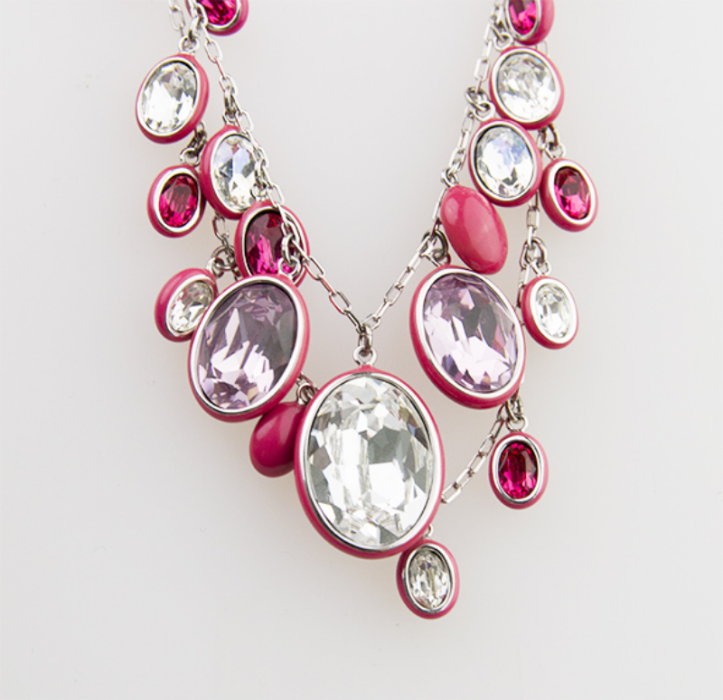 Collana-Swarovski-Donna-Laser-Pink-Necklace-1041009