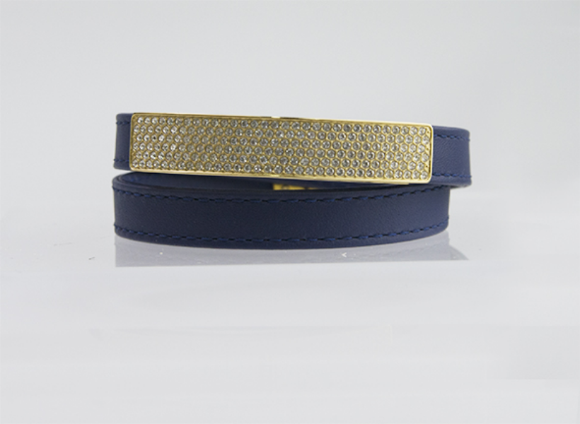 Bracciale-Swarovski-Donna-Vio-Navy-Leather-5120642